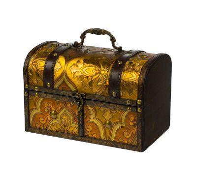 """Новогодняя упаковка 1600 г """"Сундучок золотистый большой"""""""